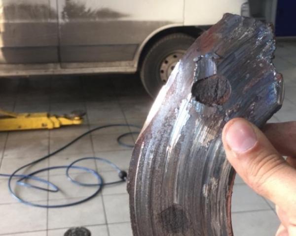 "Колодка с с износом ""под ноль"" Fiat Ducato 244 Елабуга замена в СТО Кубато"