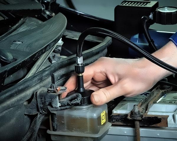 Замена тормозной жидкости  микроавтобуса в СТО Кубавто СПб